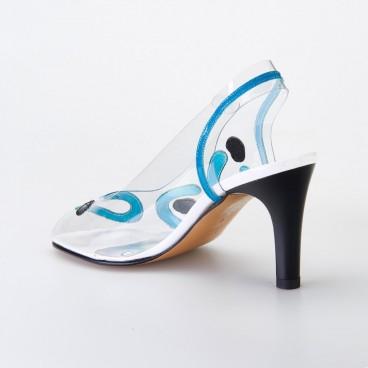 SANDALE NAFRA pour femme - Azurée - Made in France