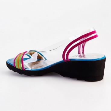 SANDALE NINKA pour femme - Azurée - Made in France
