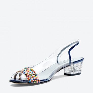 NAPOLI - Azurée - Women's shoes made in France