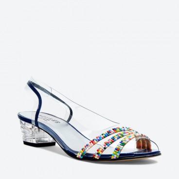 SANDALE NAPOLI pour femme - Azurée - Made in France