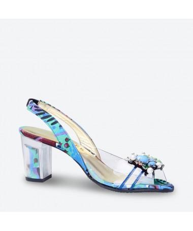 SANDALE MABEL pour femme - Azurée - Made in France