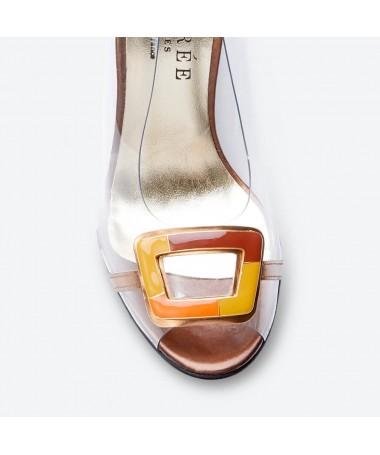 SANDALE MANGO pour femme - Azurée - Made in France