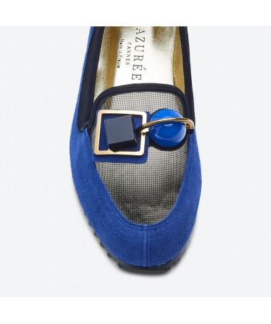 MOCASSIN KIDO pour femme - Azurée - Made in France