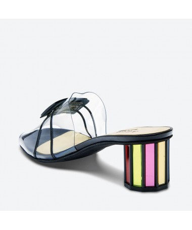 MULE MALOKA pour femme - Azurée - Made in France