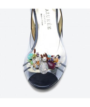 SANDALE NAGI pour femme - Azurée - Made in France