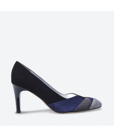ESCARPIN REBUS pour femme - Azurée - Made in France