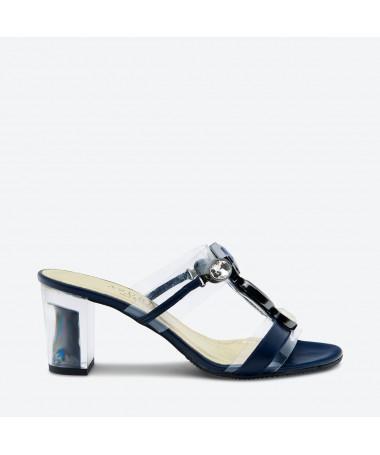 MULE MAKI pour femme - Azurée - Made in France