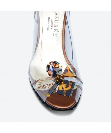 SANDALE MALAN pour femme - Azurée - Made in France