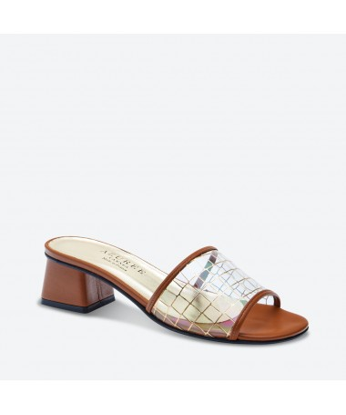 MULE MALMO pour femme - Azurée - Made in France