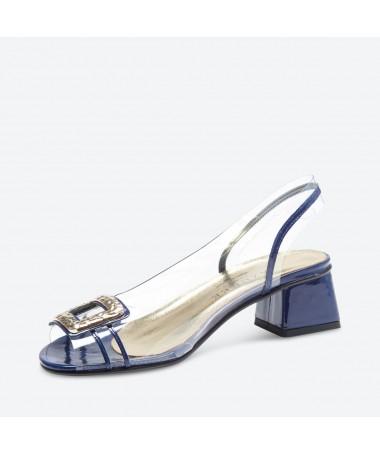 SANDALE MANILO pour femme - Azurée - Made in France