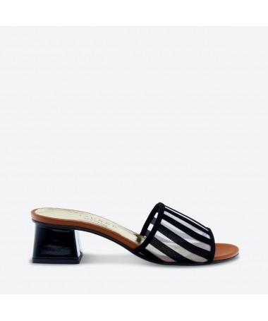 MULE KATIBA pour femme - Azurée - Made in France