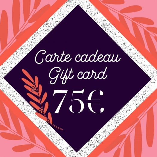 Gift card 75 - Azurée - Women's shoes made in France