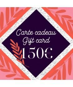 Carte cadeau 150 pour femme - Azurée - Made in France