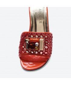 MULE FAGOLI pour femme - Azurée - Made in France